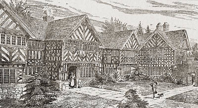 16th Century Kenyon Peel Hall Art Print