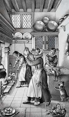 Pulley Painting - 16th Century Kitchen by Pat Nicolle