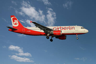 Air Berlin Airbus A320-214 Art Print