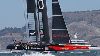 Sausalito Photograph - Oracle America's Cup Winner by Steven Lapkin