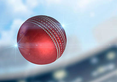 Cricket Digital Art - Ball Flying Through The Air by Allan Swart