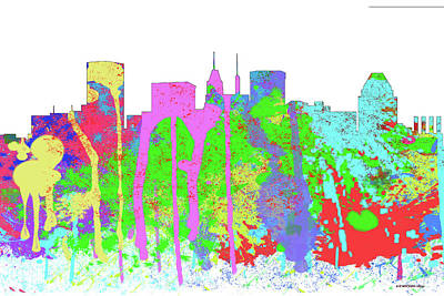Digital Art - Baltimore Maryland Skyline by Marlene Watson