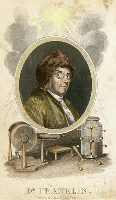 Drawing - Benjamin Franklin by Granger