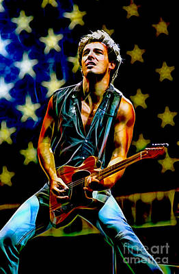 E Street Band Mixed Media - Bruce Springsteen Collection by Marvin Blaine