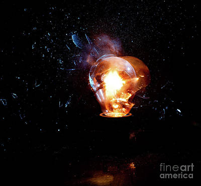 Photograph - Bulb Explosion by Gualtiero Boffi