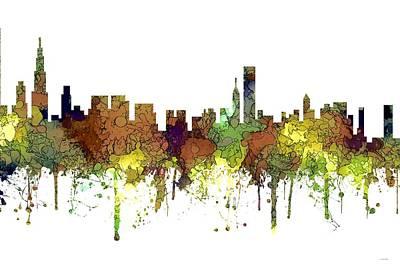Digital Art - Chicago Illinois Skyline by Marlene Watson