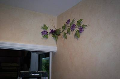 Passion Flower Vine Painting - Commissioned Mural-sold by J Barth