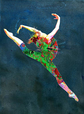 Ballet Digital Art - Dance by Elena Kosvincheva
