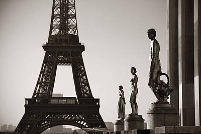 Photograph - Eiffel Tower Paris by Songquan Deng