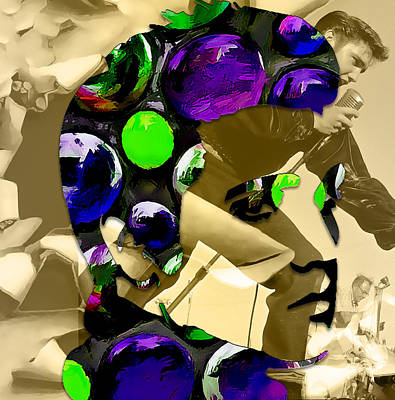 Mixed Media - Elvis Presley by Marvin Blaine