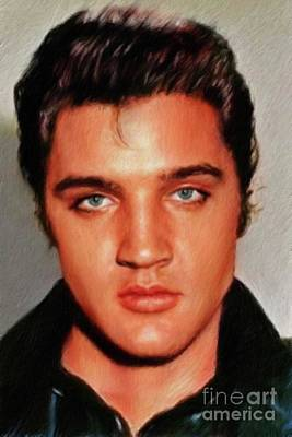 Jazz Royalty-Free and Rights-Managed Images - Elvis Presley, Rock and Roll Legend by Mary Bassett