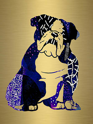 Puppy Mixed Media - English Bulldog Collection by Marvin Blaine