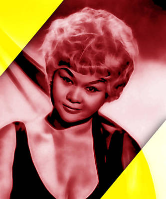 Jazz Mixed Media - Etta James Collection by Marvin Blaine