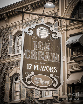 17 Flavors Art Print by Perry Webster