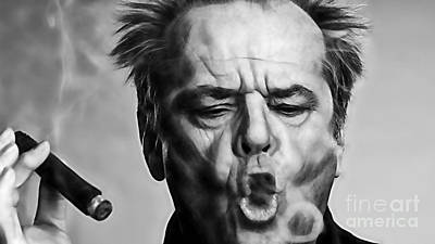 Jack Nicholson Wall Art - Mixed Media - Jack Nicholson Collection by Marvin Blaine