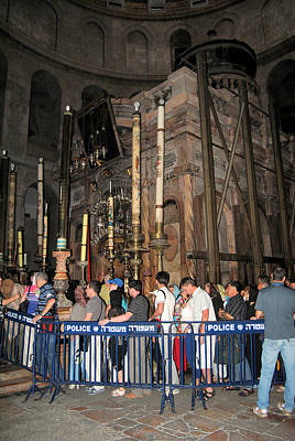 Photograph - The Aedicule Over The Tomb Of Jesus 2 by Isam Awad