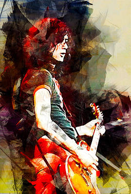 Led Zeppelin Digital Art - Jimmy Page. Led Zeppelin. by Best Actors