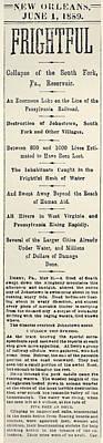 Johnstown Flood, 1889 Art Print
