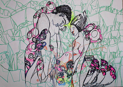 Painting - Kintu And Nambi Loves Puzzle by Gloria Ssali