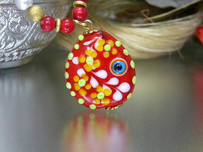 Handmade Lampwork Beads Glass Art - Lampwork Jewelery by Ozlem Ercan