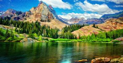Bob Ross Painting - Landscape Paintings Nature by Margaret J Rocha