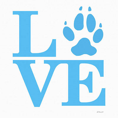 Digital Art - Love Claw Paw Sign by Gregory Murray
