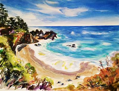 Carmel By The Sea Painting - 17 Mile Drive by Therese Fowler-Bailey