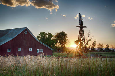 17 Mile House Farm - Sunset Art Print