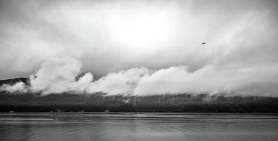 Photograph - Mountain Range Scenes In June Around Juneau Alaska by Alex Grichenko