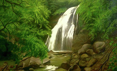 Sun Painting - Nature Oil Canvas Landscape by Edna Wallen