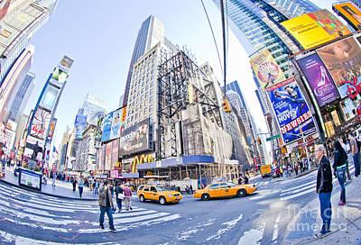 Speeding Taxi Photograph - New York by Stuart Monk