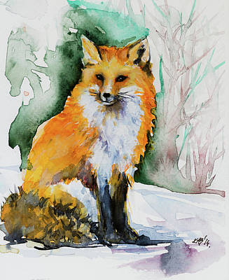 Painting - Red Fox by Kovacs Anna Brigitta