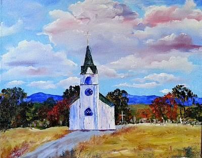 #17 St. Johns Historic Church On Hwy 69 Art Print