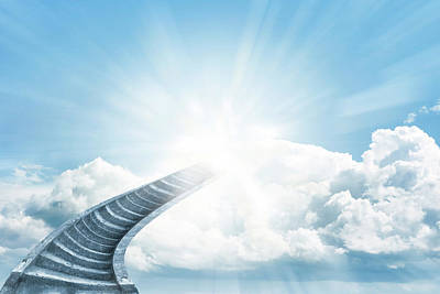 Walkway Digital Art - Stairway To Heaven by Les Cunliffe