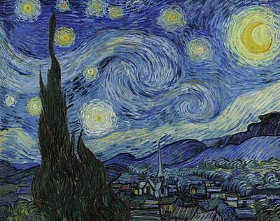Landscape Poster Painting - Starry Night by Starry Night