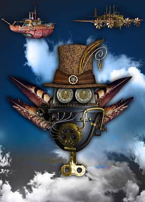 Steampunk Art Art Print by Marvin Blaine