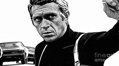 Steve Mcqueen Collection Art Print by Marvin Blaine