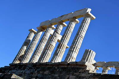 Greek Photograph - Temple Of Poseidon by George Atsametakis