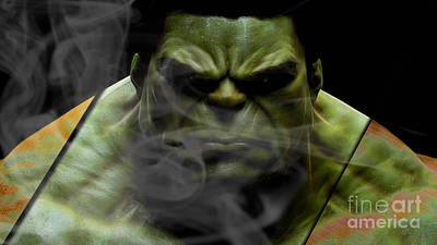The Incredible Hulk Collection Art Print by Marvin Blaine