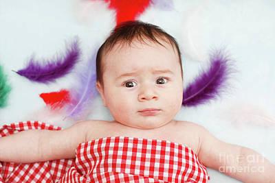 Tummy Photograph - Three Month Old Baby Boy by Tom Gowanlock
