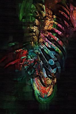 Healthcare Digital Art - Torso Skeleton by Joseph Ventura
