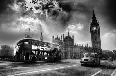 Priska Wettstein Pink Hues - Westminster Bridge London by David Pyatt