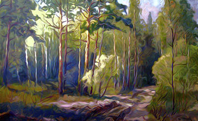 Forest Painting - Nature Landscape Artwork by Edna Wallen