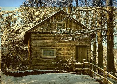 Photograph - 1700's Log School House In West Chester, Pennsylvania by Polly Peacock