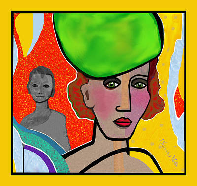 Digital Art - 1707 -  Sovereign Lady 2017 by Irmgard Schoendorf Welch
