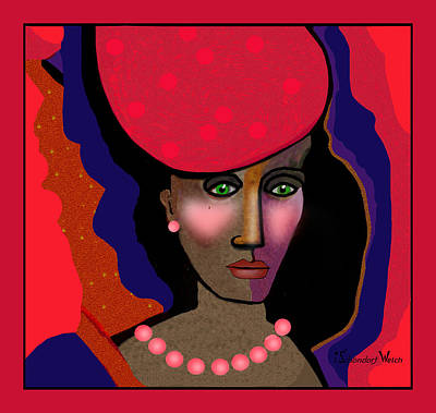 Digital Art - 1708 - Loving The Colour Red - 2017   by Irmgard Schoendorf Welch