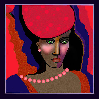 Digital Art - 1708 Loving The Colour Red  2017 V   by Irmgard Schoendorf Welch