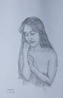 Drawing - Nude Study by Masami Iida