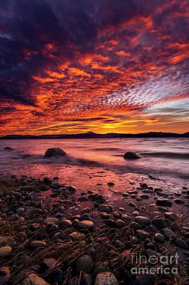 Photograph - Exploding Sky by Paul Conrad