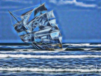 Vero Beach Digital Art - 1715 Ghost Ship by D Hackett